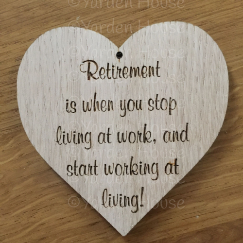 10cm Hanging Heart ....Retirement 2